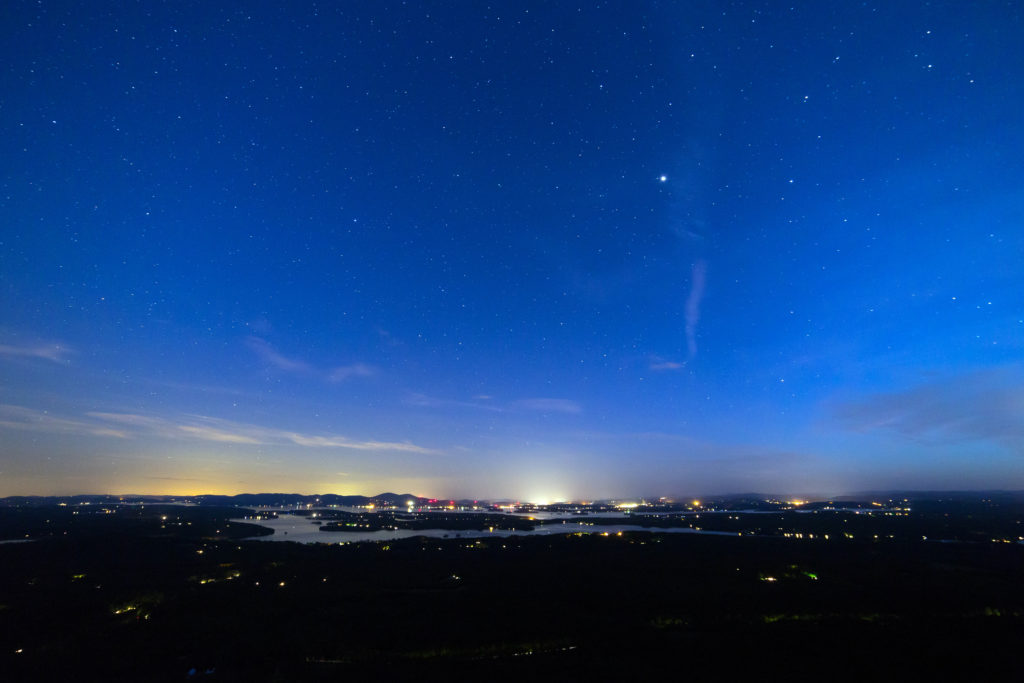 City in the Distance at Blue Hour