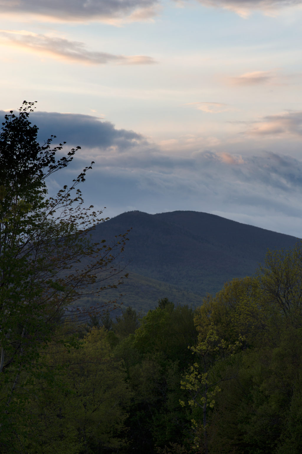 Mountain Rising in the Distance with Clouds