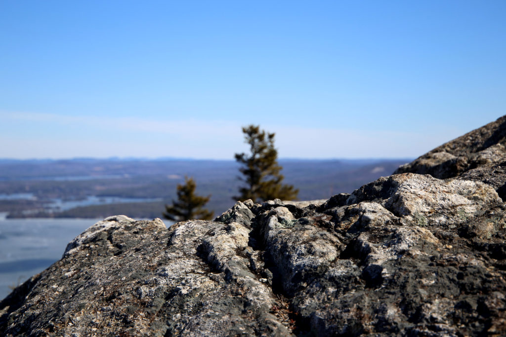 Looking Over a Rocky Crest