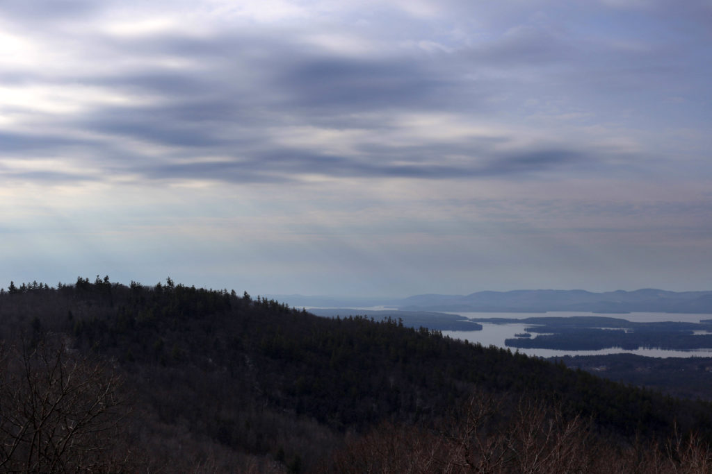 Cloudy View From the Top of the Mountain