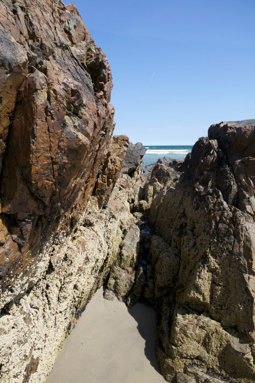 Large Rocks at the Ocean's Edge