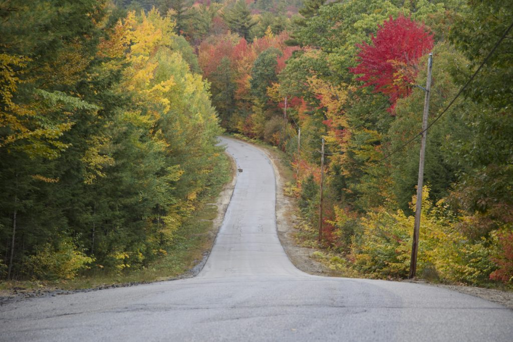 Steep Road in the Fall