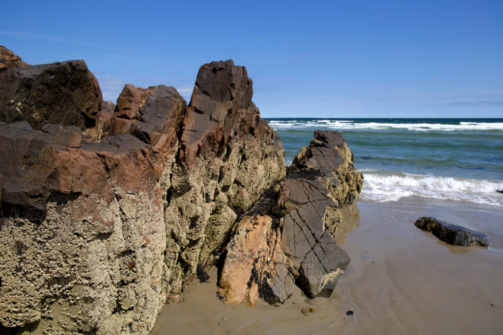 Rock Formations on the Beach