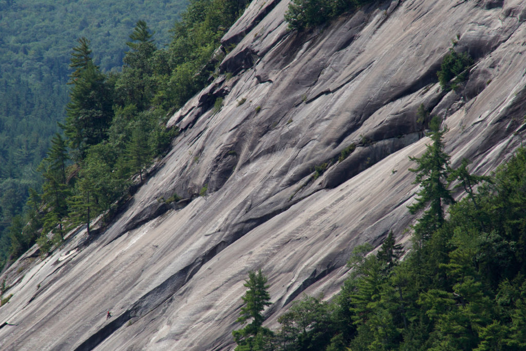Smooth Rock on Side of Mountain