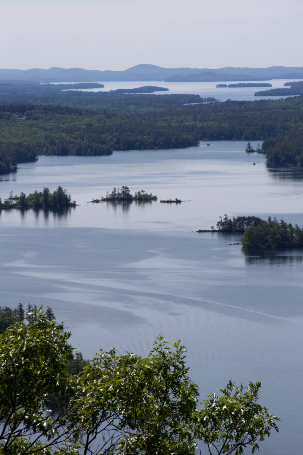 Looking Down at Little Islands on the Lake