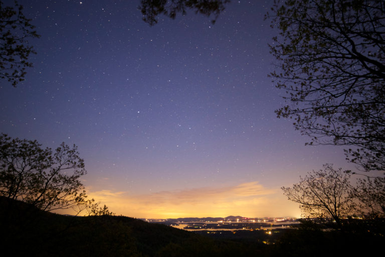City Lights from the Mountaintop