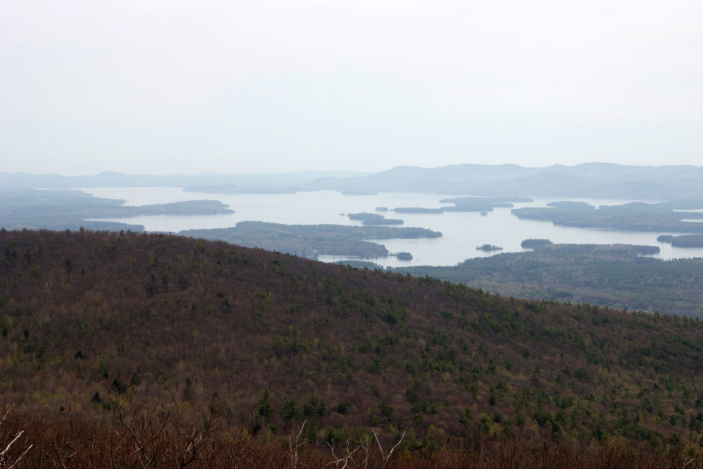 Hazy Lake Views from Mountaintop