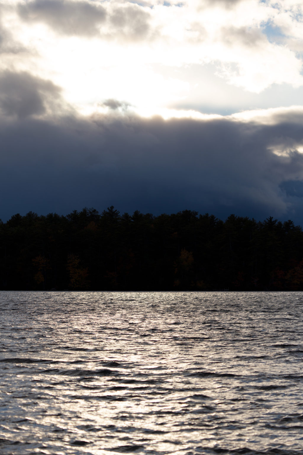 Dark and Light Over Lake