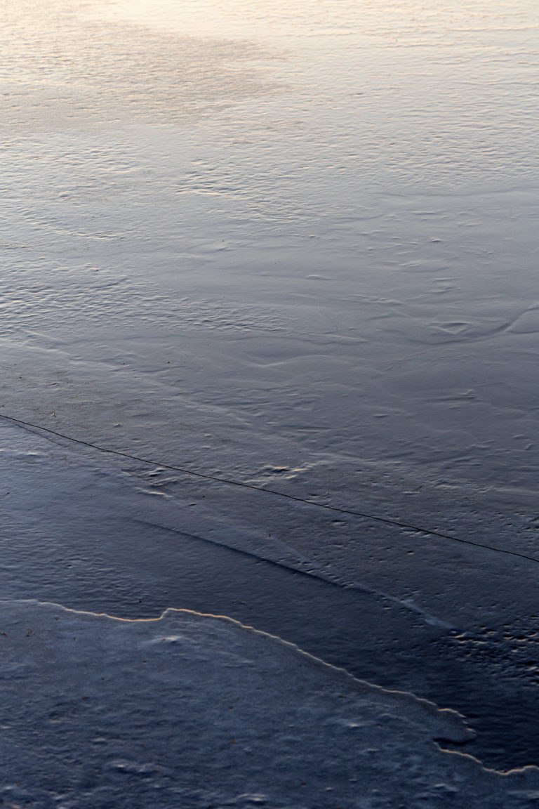 Glaze Ice on Lake