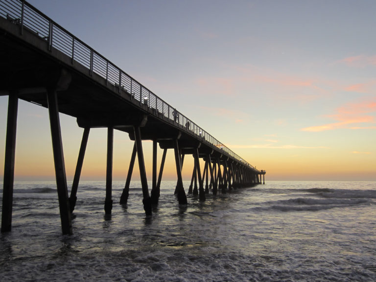 Beautiful Ocean Pier at Sunset