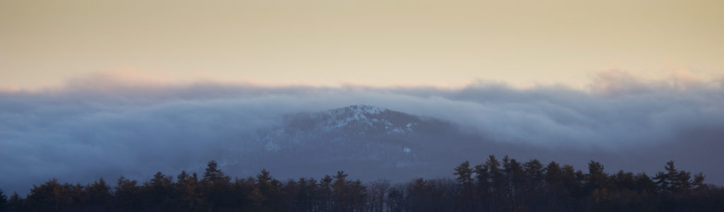 Cloudy Winter Mountain Panorama