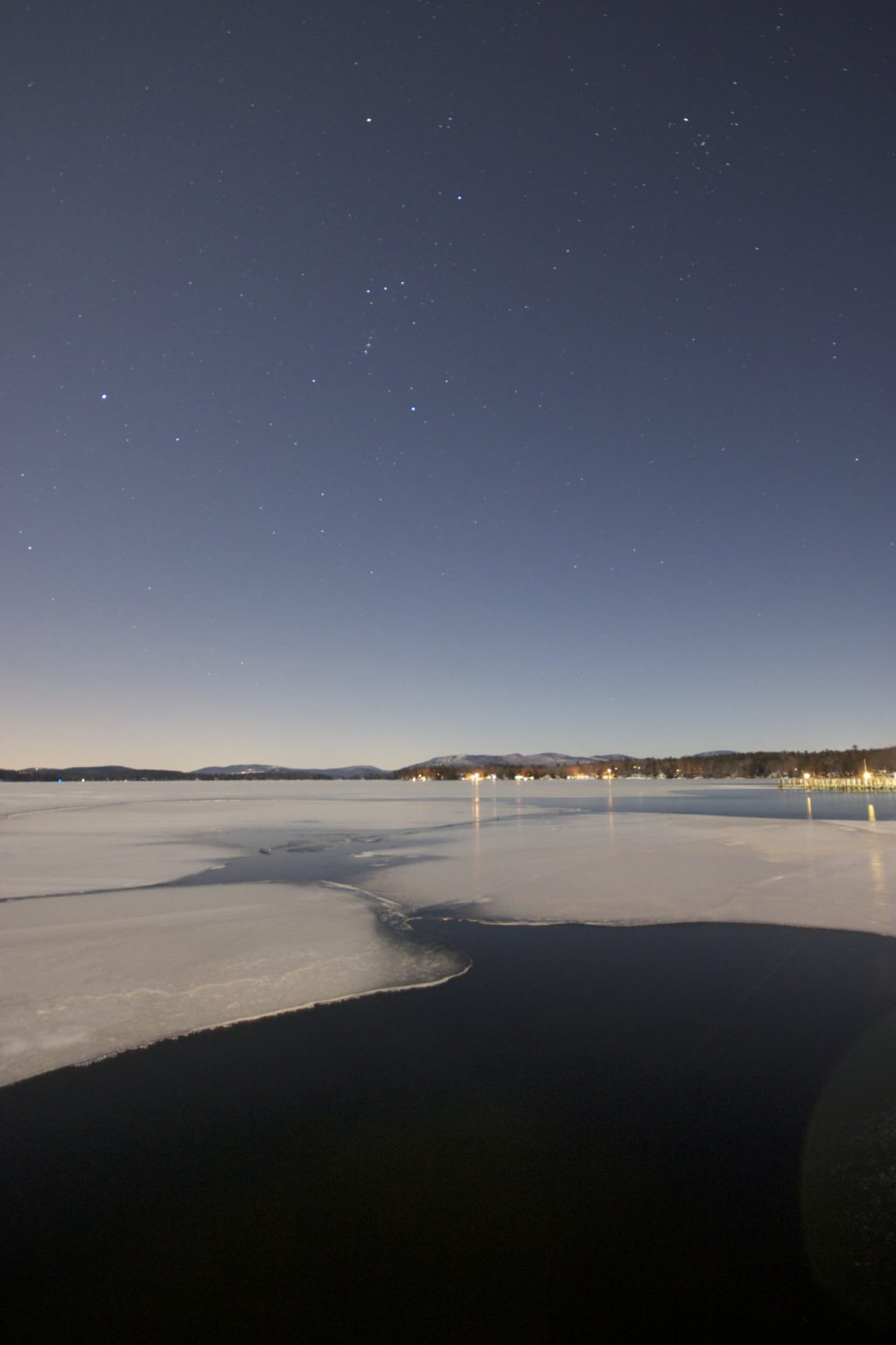 Night on a Winter Lake
