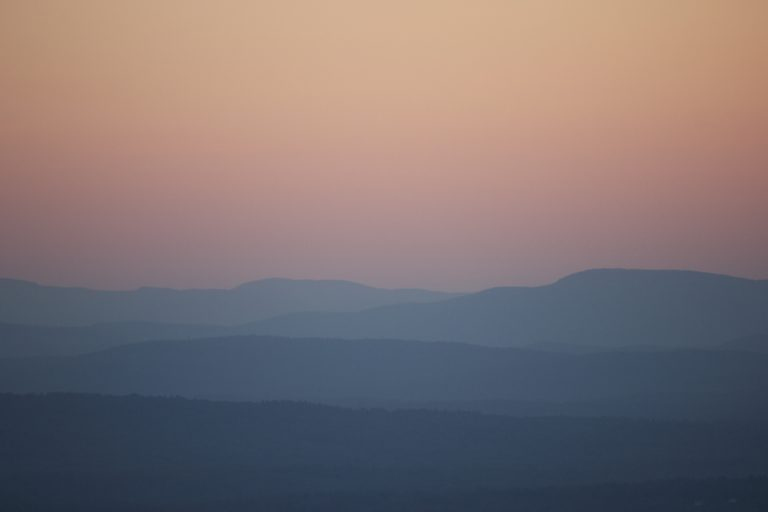 Pastel Sky and Mountains