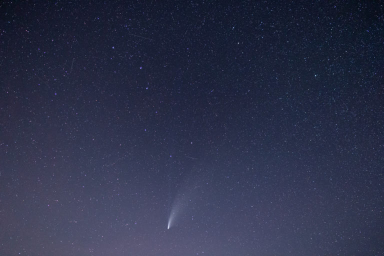 Comet Neowise Night Sky