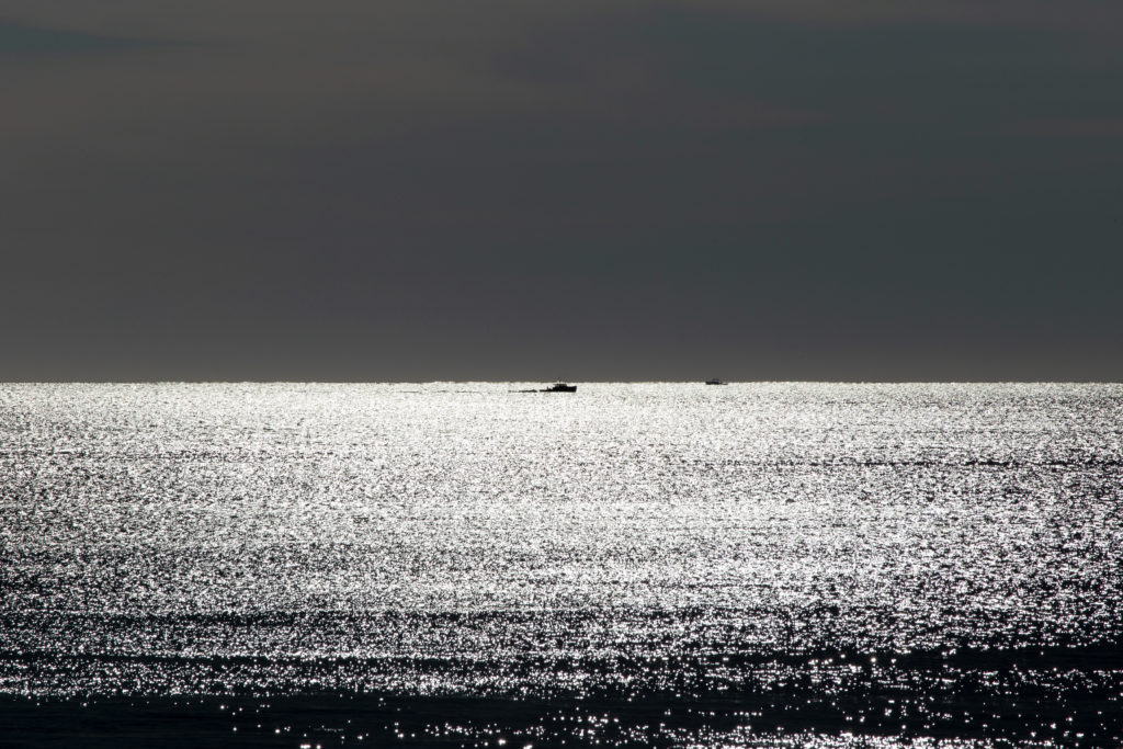 Small Boat on the Horizon, Black and White