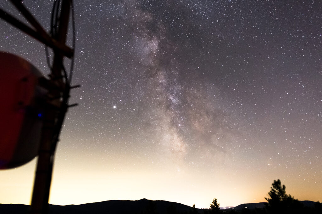 Milky Way Galaxy From a Tower