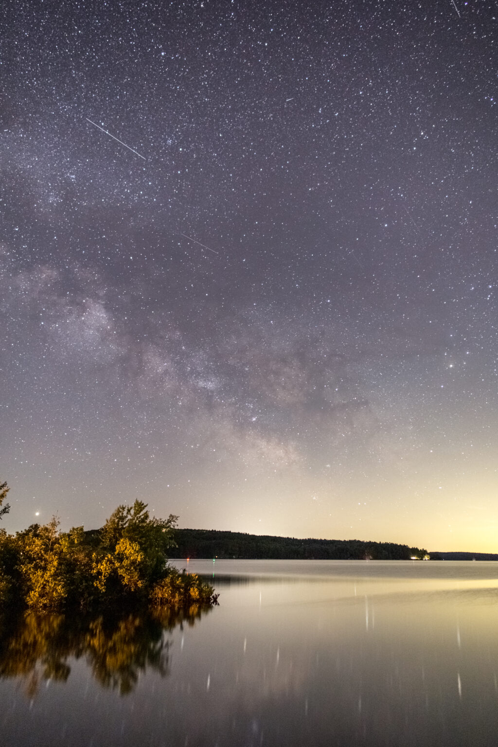 Milky Way Galaxy and a Calm Lake
