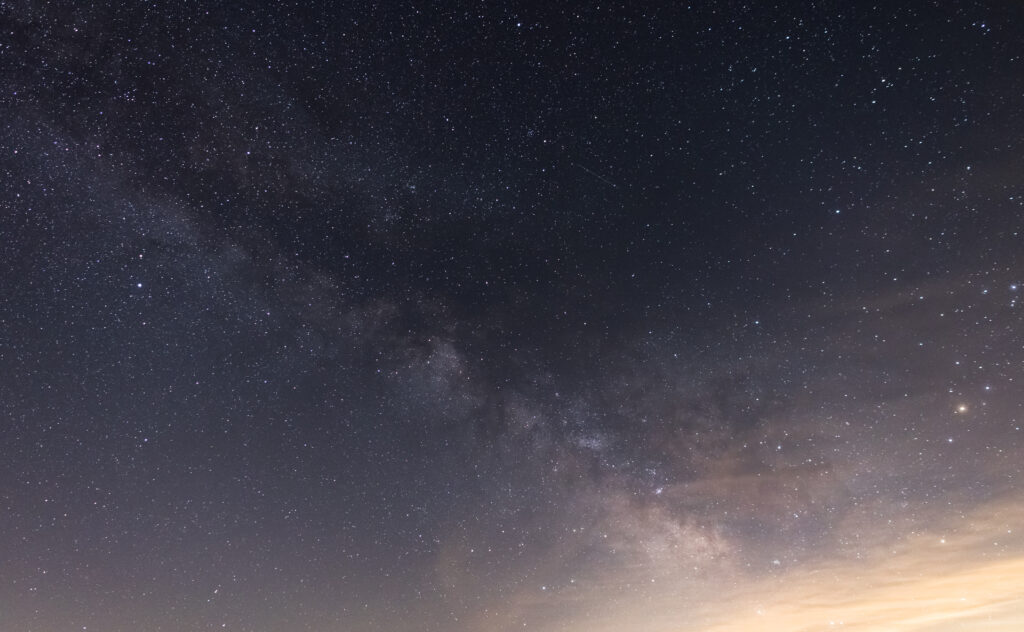 Milky Way Glowing Clouds