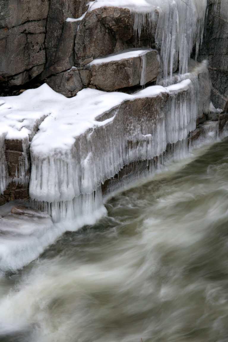 Icy Rushing Stream