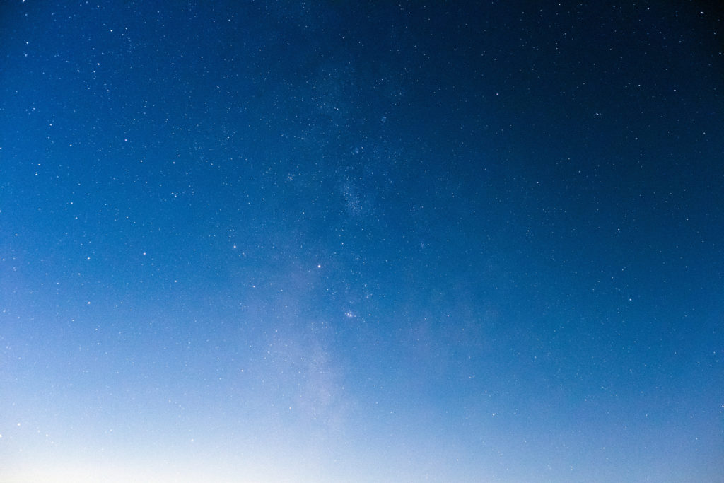 Luminous Blue Night Sky
