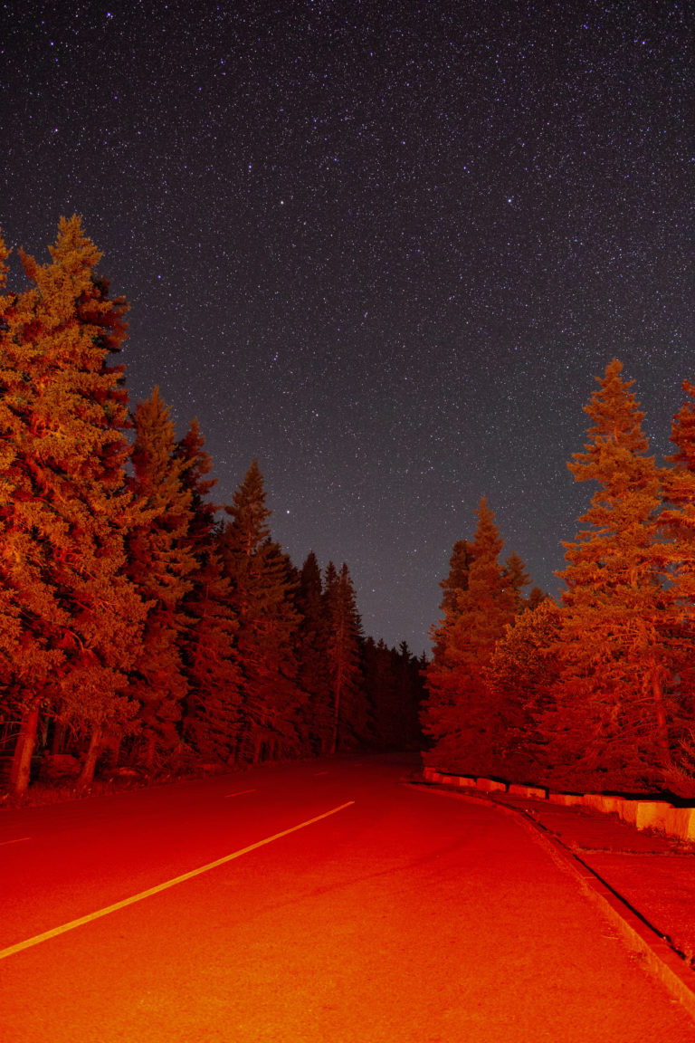 Red Road at Night
