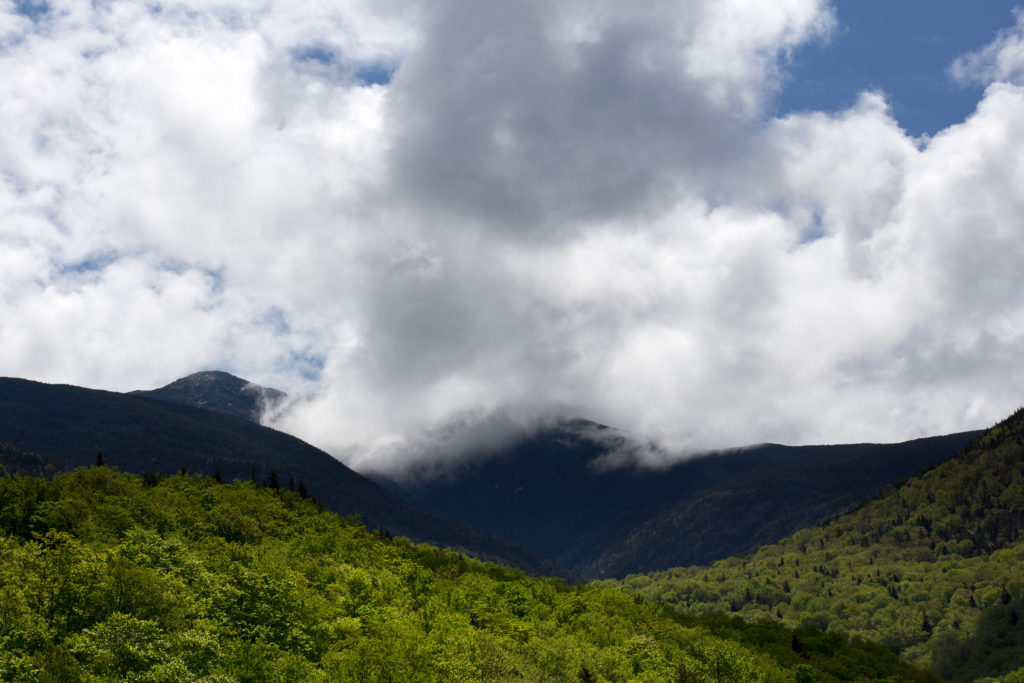 Low Summer Clouds Covering Mountain