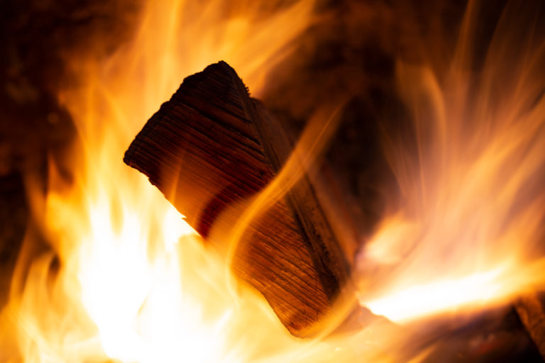 Log Consumed by Fire