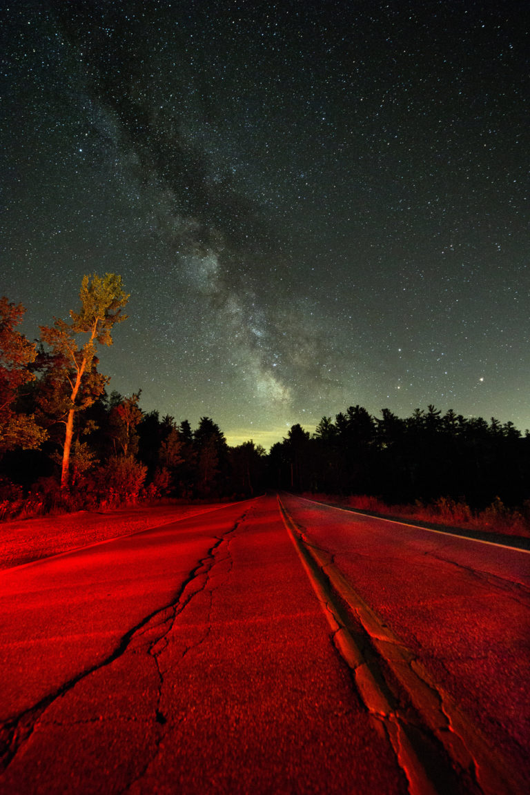 Milky Way Over Red Roadway