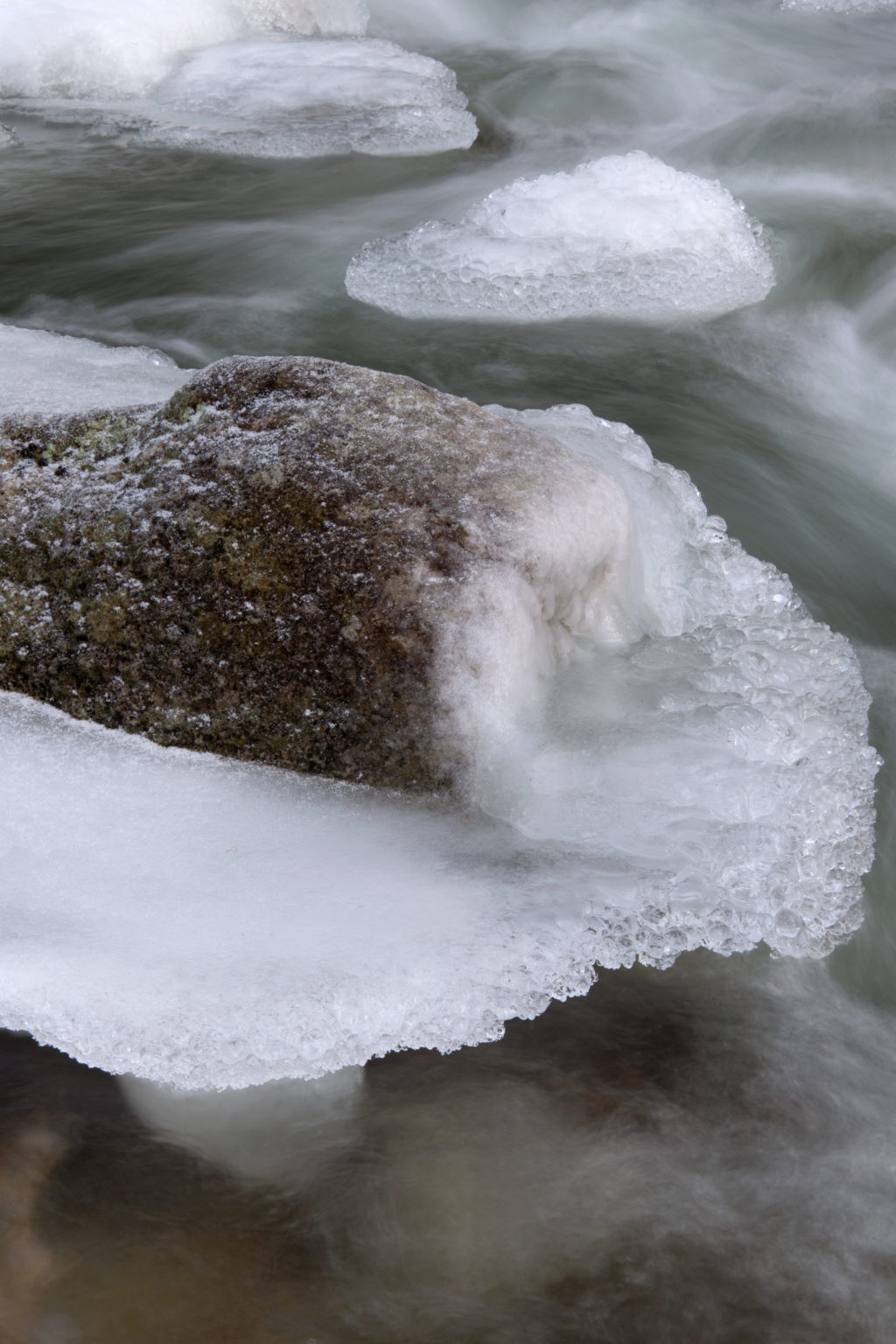 Icy Rock in Stream