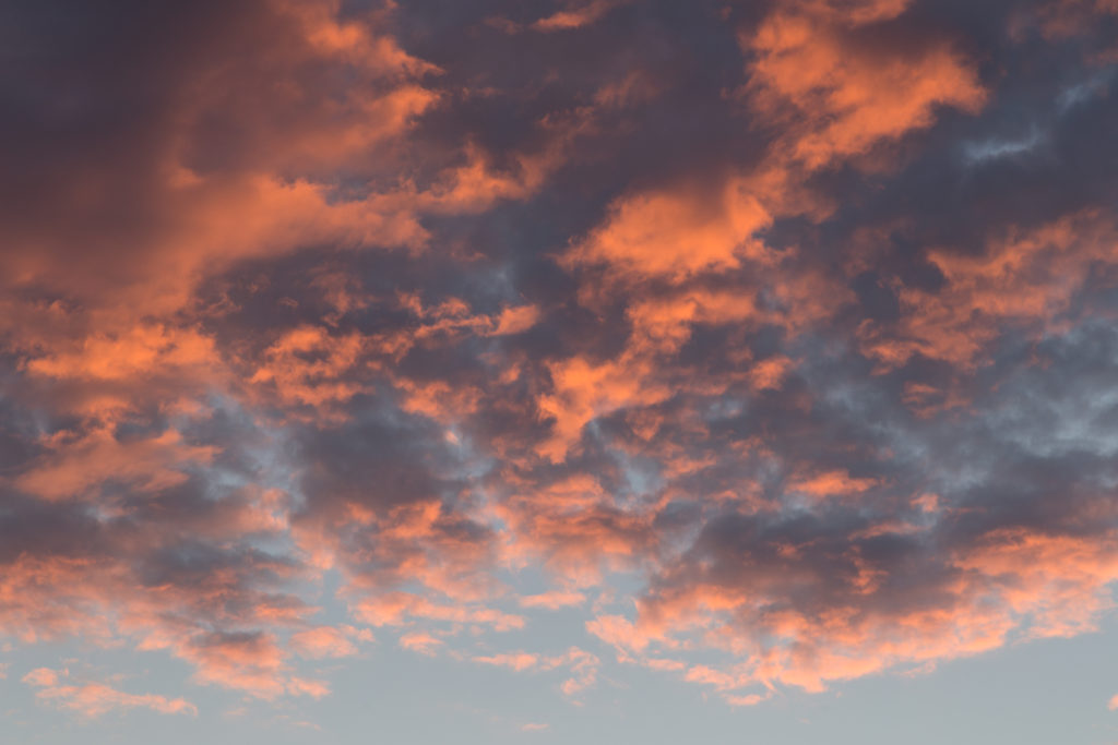 Sunset Reflected in Clouds