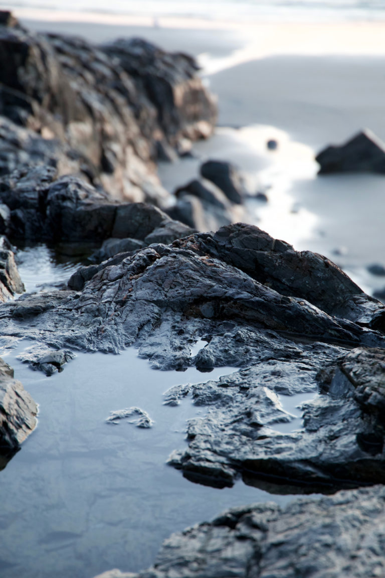 Small Rocky Pools at the Ocean's Edge