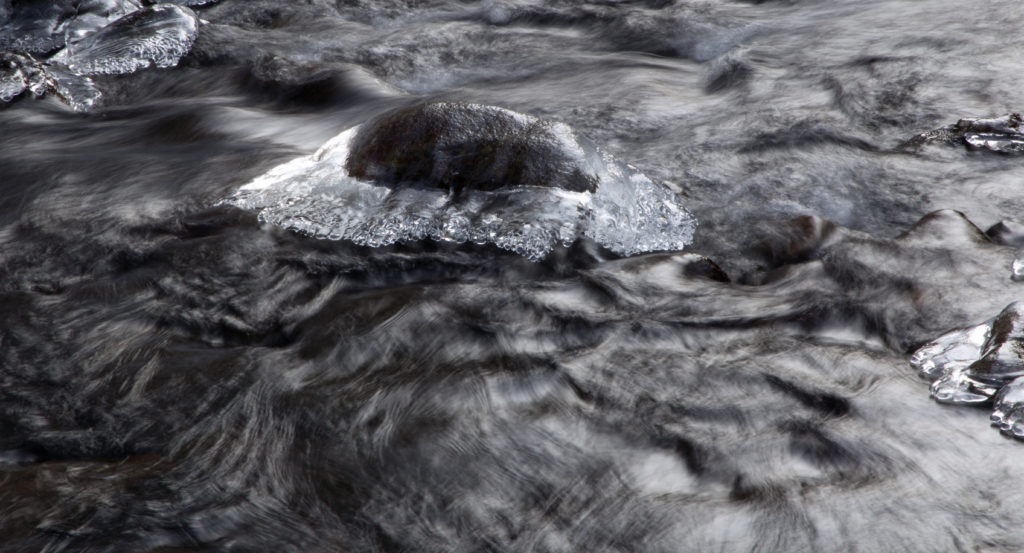 Icy Moving River