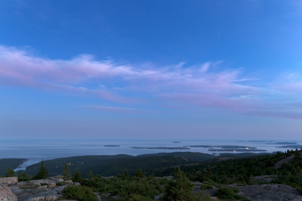 Blue Hour Over Ocean Islands