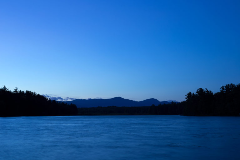 Looking Across the Lake at Dusk