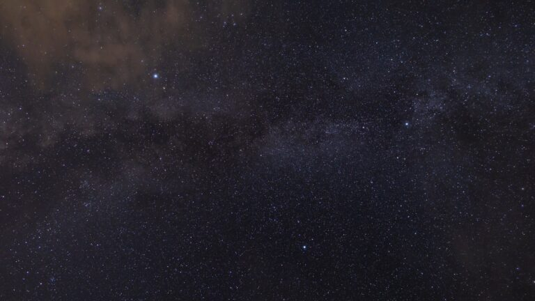 Milky Way Through the Clouds